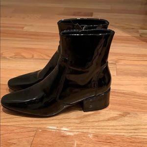 Zara Patent Black Booties